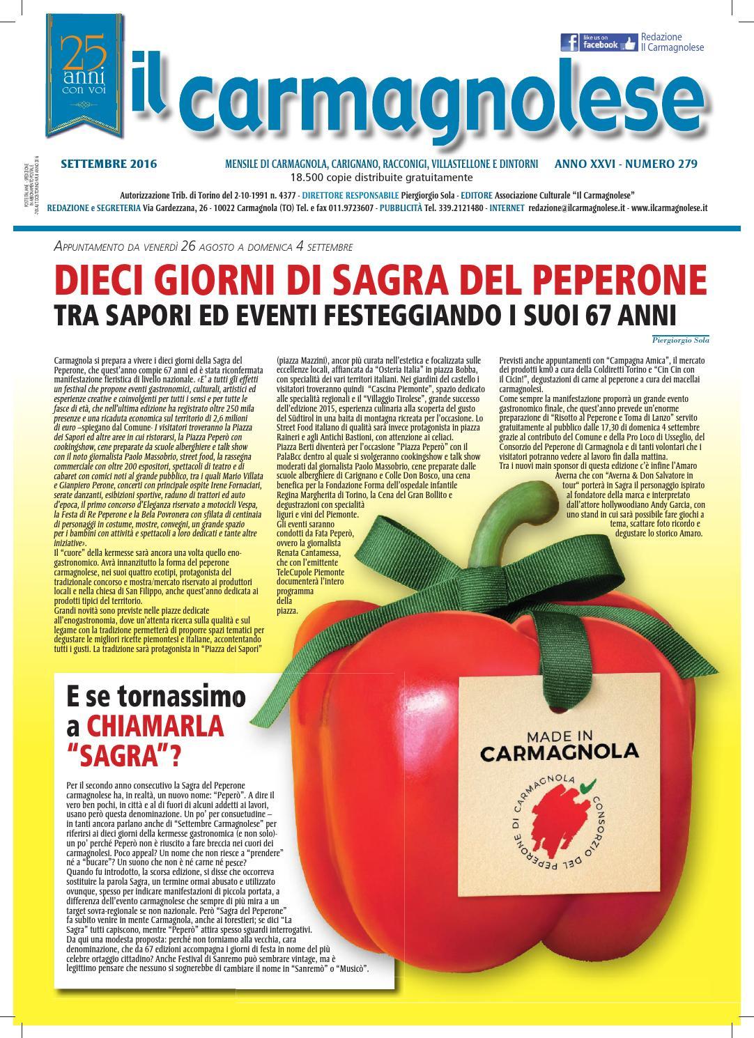 556f4076c9 Il Carmagnolese_Settembre 2016 by Redazione Il Carmagnolese - issuu