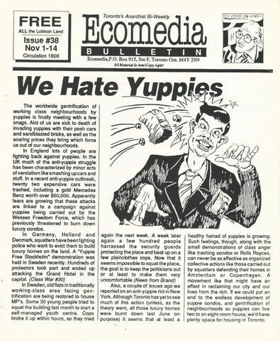 28e113da6 Toronto Ecomedia, No. 38, November 1 - November 14, 1988