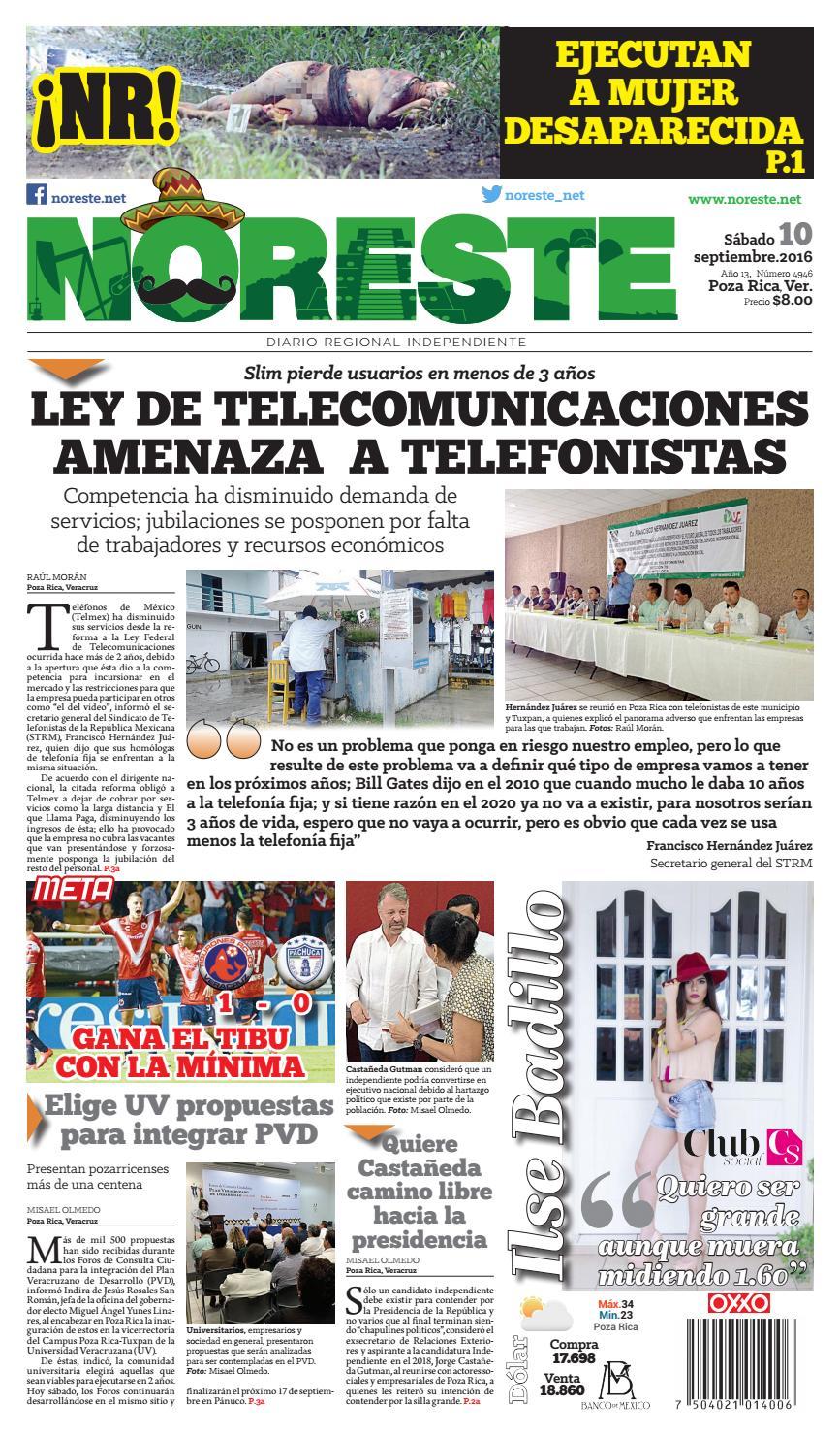 Versi N Impresa 10 De Septiembre De 2016 By Noreste Diario  # Muebles Paquita Santa Cruz De La Zarza