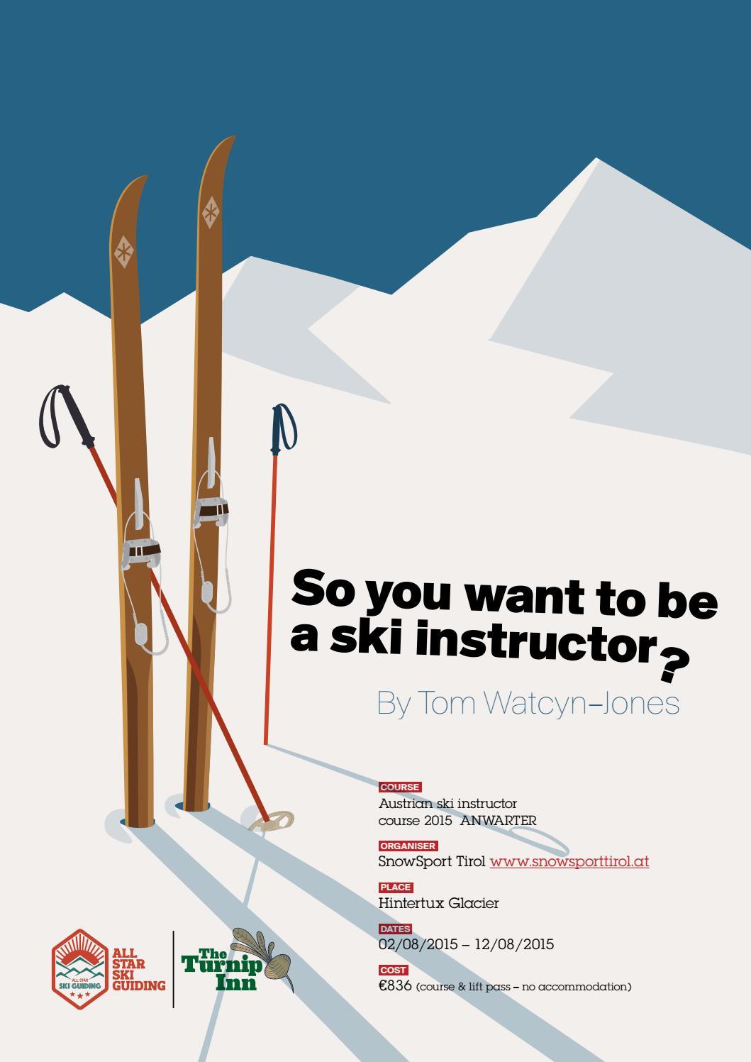 So You Want To Be A Ski Instructor By Tom Watcyn Jones Issuu