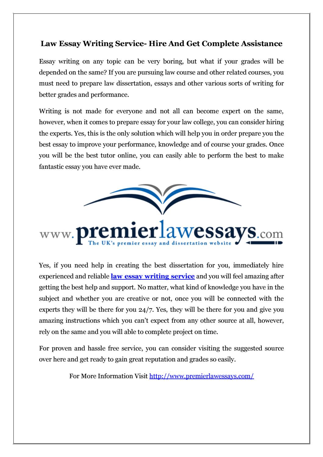 Law essay writing service fastest