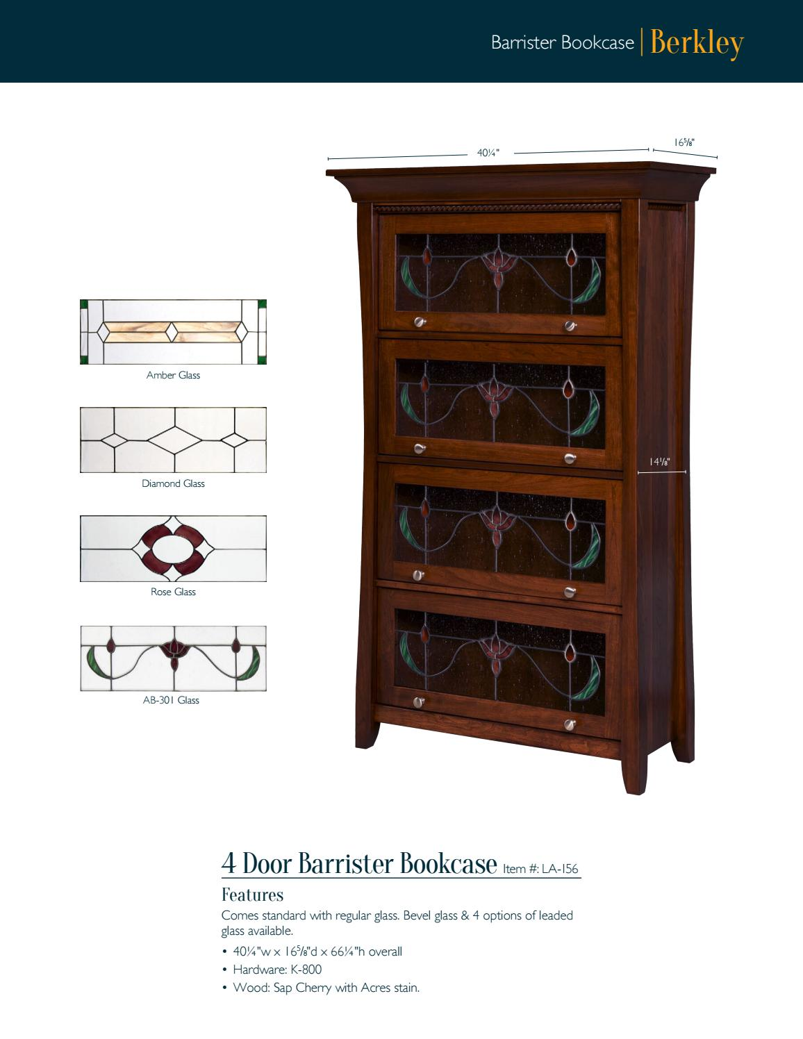 2016 Lamb Woodworking Bookcase Catalog Bookcases E G