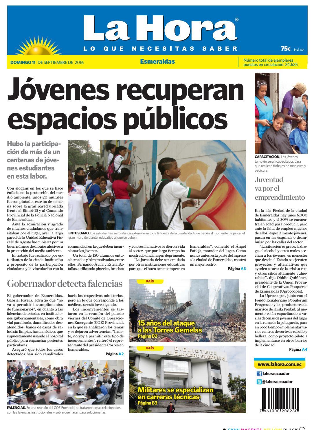 Esmeraldas 11 de septiembre del 2016 by Diario La Hora Ecuador - issuu
