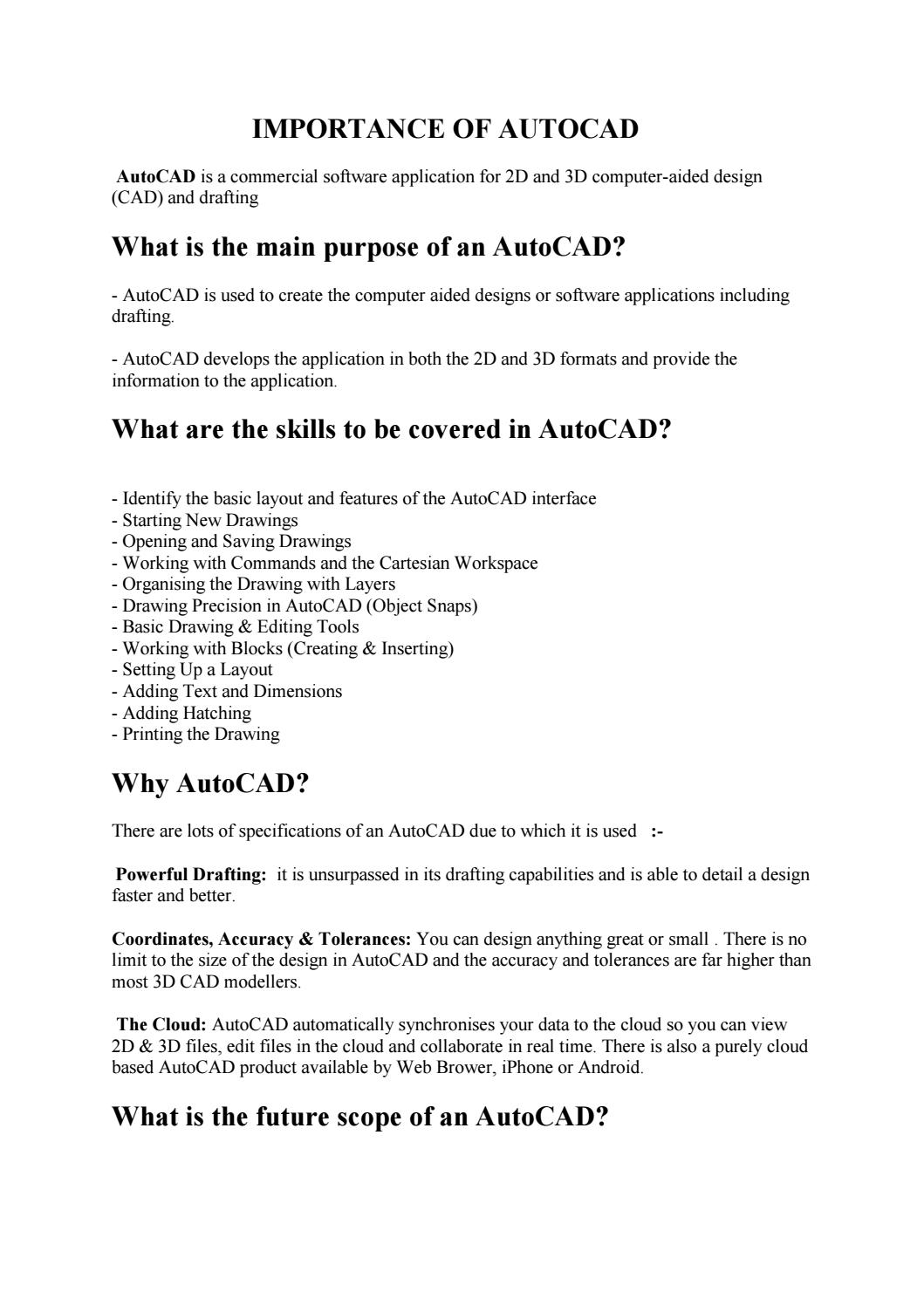 Importance of autocad training courses by softcrayons - issuu