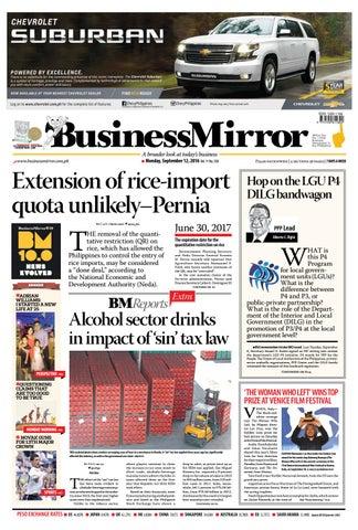 Businessmirror september 12, 2016 by BusinessMirror - issuu