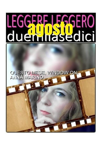 Giovanna D Anna Calendario.Leggere Leggero Calendario 2016 Agosto By Giovanna Issuu