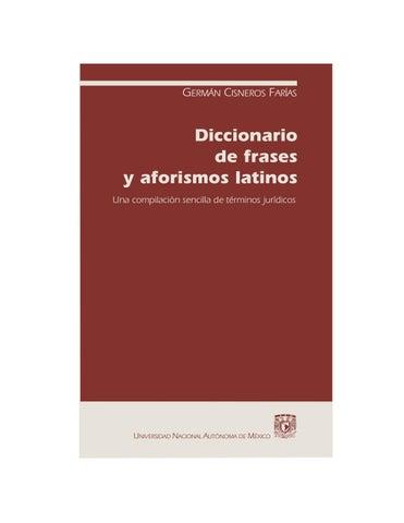 Diccionario De Frases Y Aforismo Latinos By Diazlawyer24 Issuu