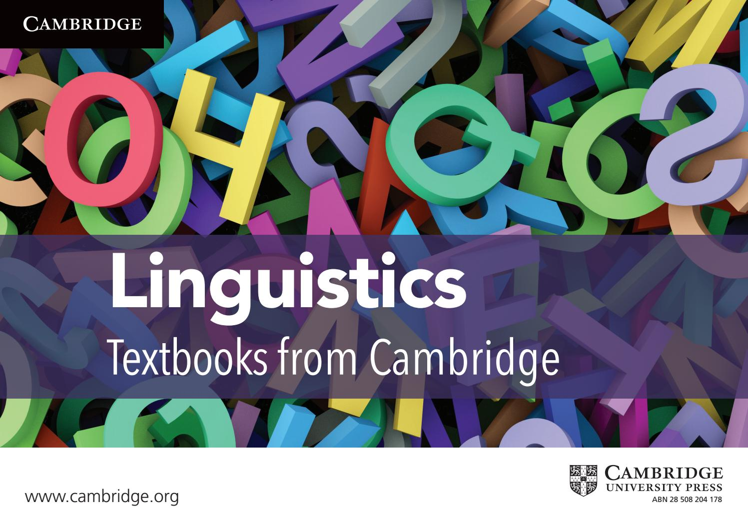linguistics and university press Hans lindquist is professor of english linguistics at malmö university, sweden he has taught english in switzerland, the united states, japan, new zealand and the gambia and co-edited.
