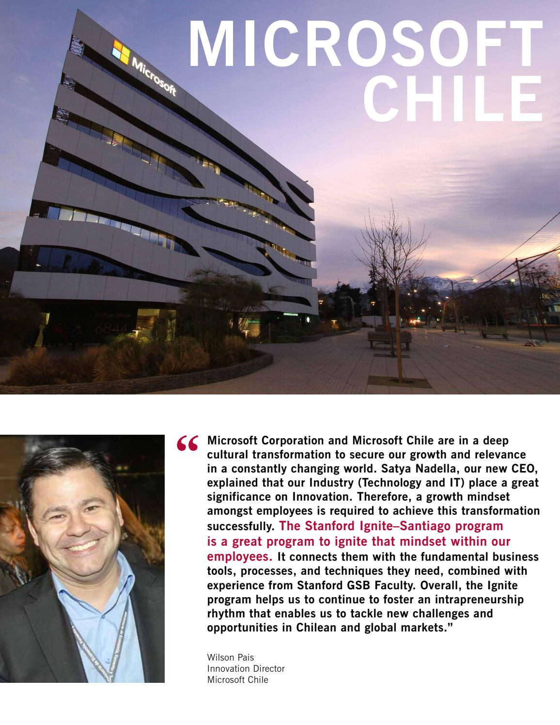 Stanford Ignite Brochure - Santiago, Chile by Stanford MSx