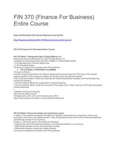 List of Common Courses
