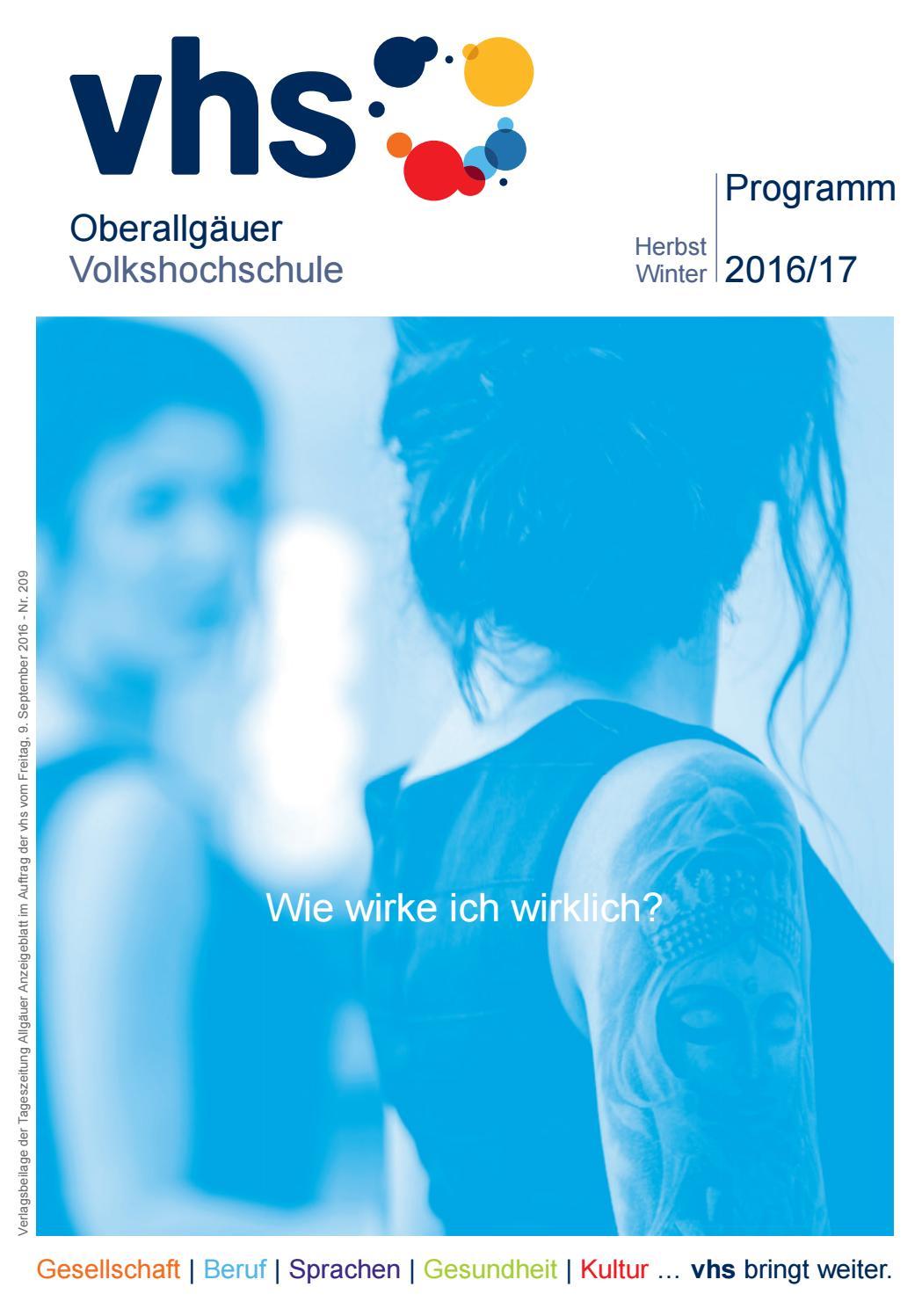 VHS-Herbst-/Winterprogramm 2016/17 by Oberallgäuer Volkshochschule ...