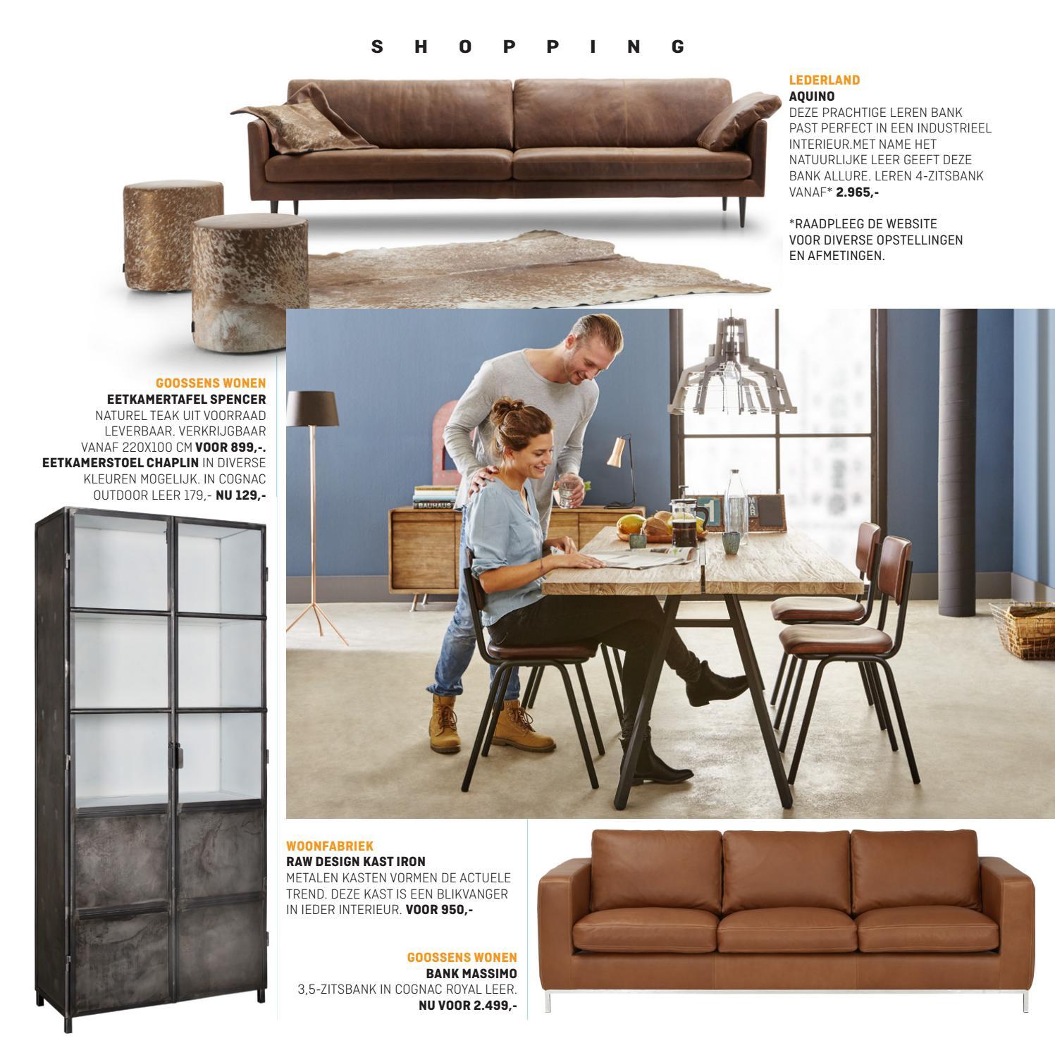 Goossens Design Bank.Villa Arena Magazine Herfst Thema Industrieel Wonen By Villa Arena