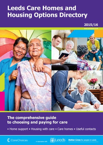 Leeds Care Homes And Housing Options Directory 2015 16