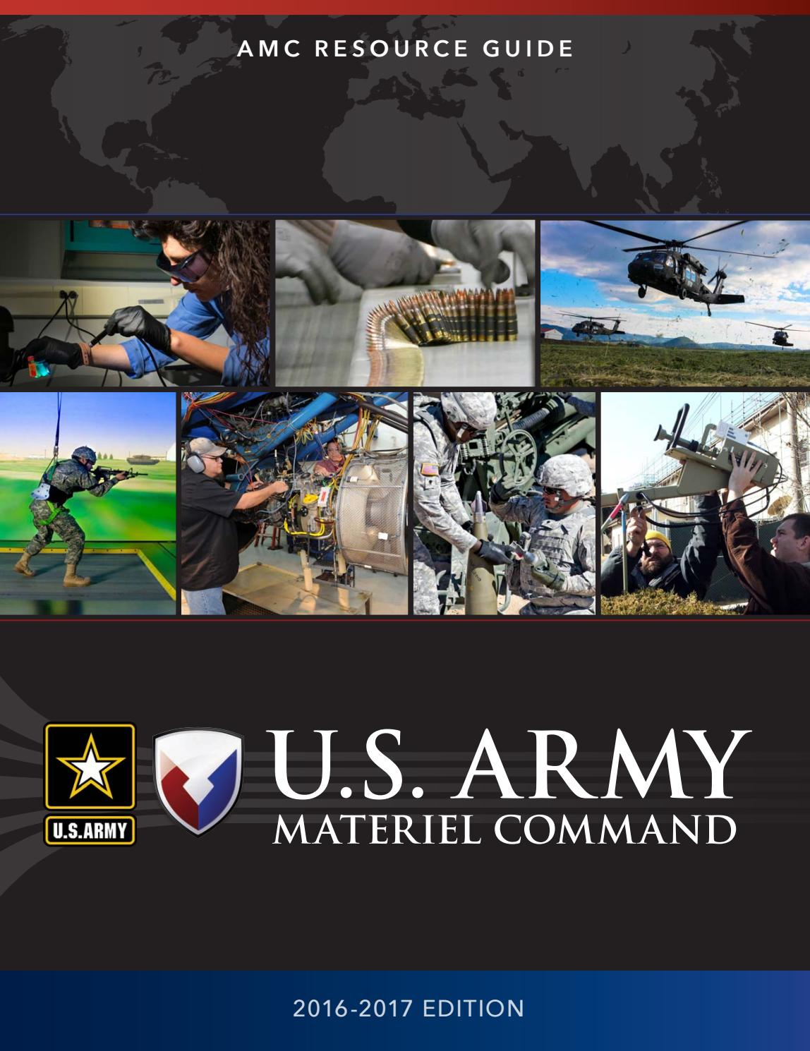 U.S. Army Materiel Command Resource Guide 2016-2017 by Faircount Media  Group - issuu