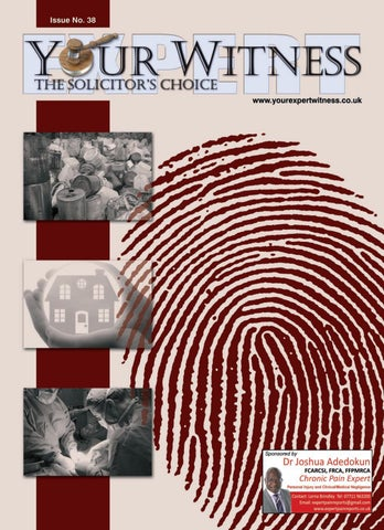 Your Expert Witness Issue No  38 (1YWQ) by DMMonline - issuu
