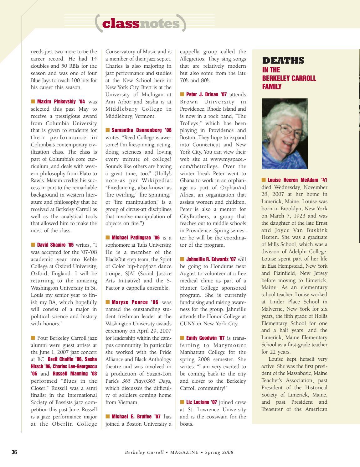 BC Magazine Spring 2008 by Berkeley Carroll - issuu