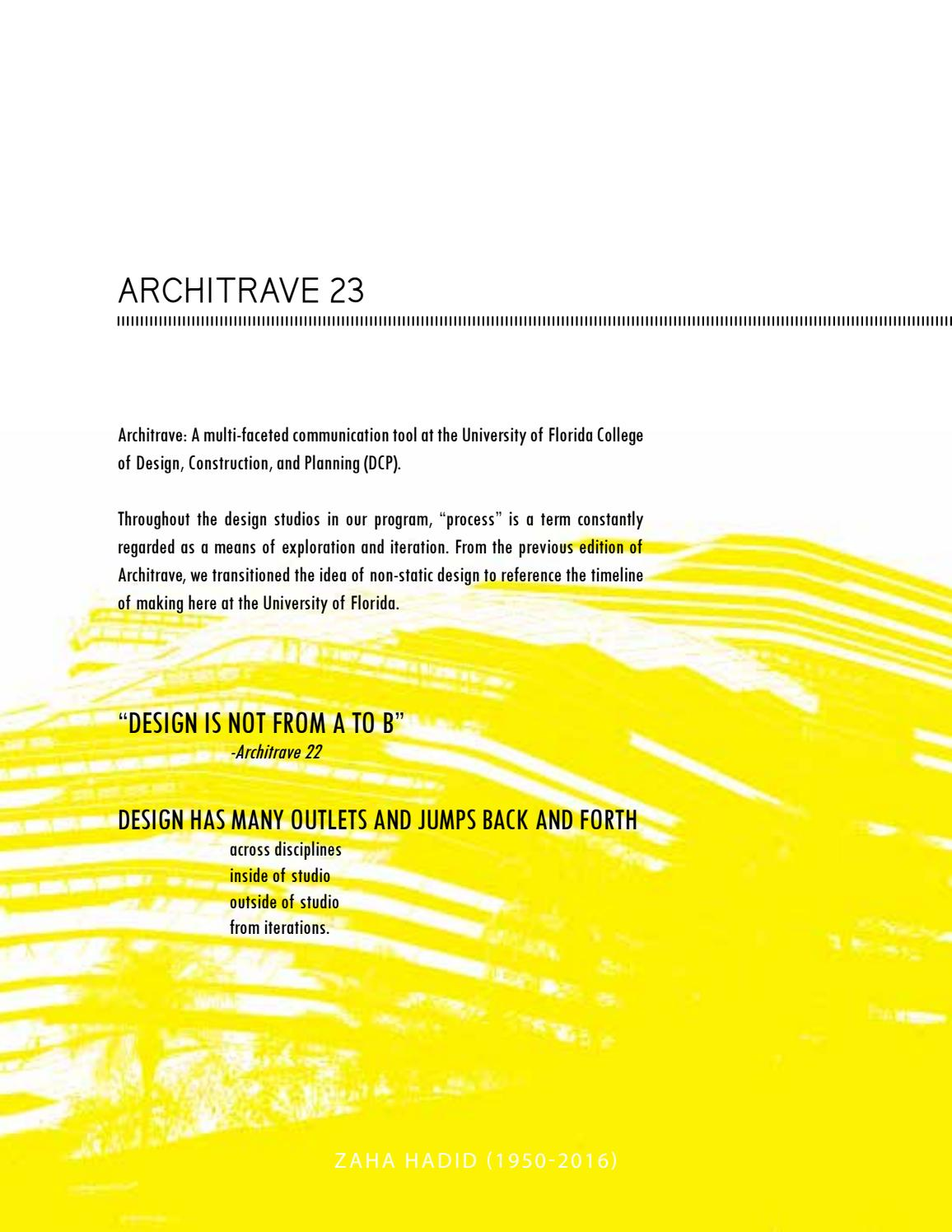 Architrave 23 by Architrave - issuu