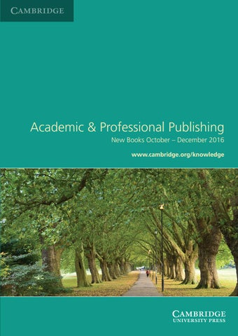 Academic professional publishing october december 2016 by page 1 fandeluxe Gallery