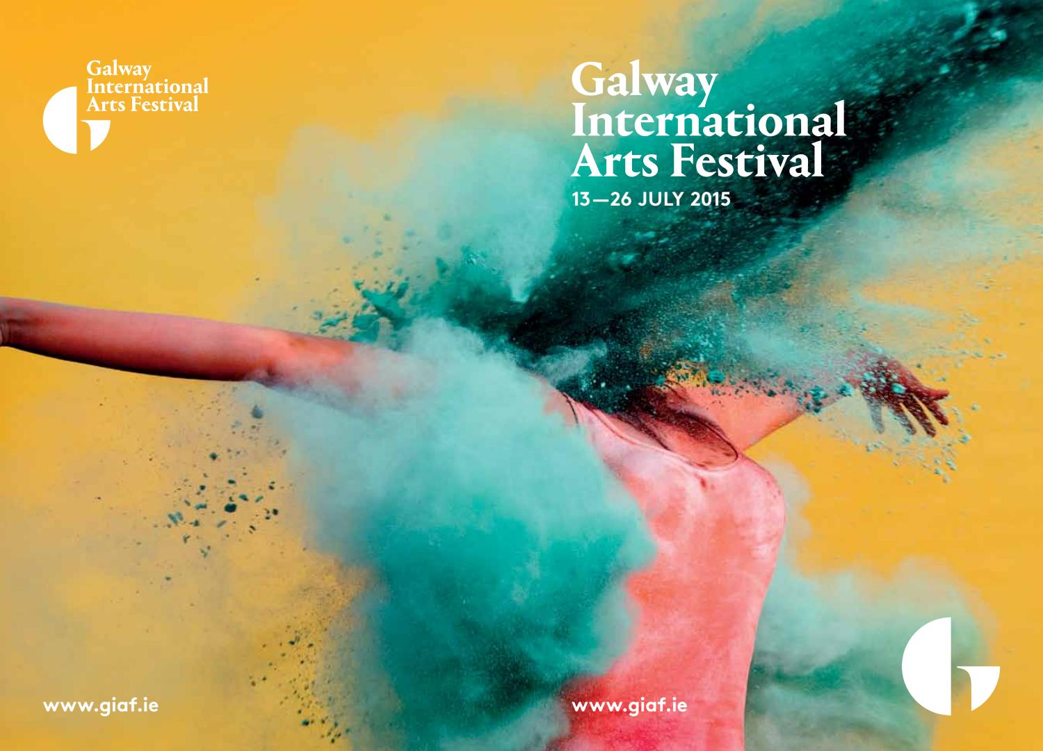 Poster design galway - Galway International Arts Festival Programme 2015