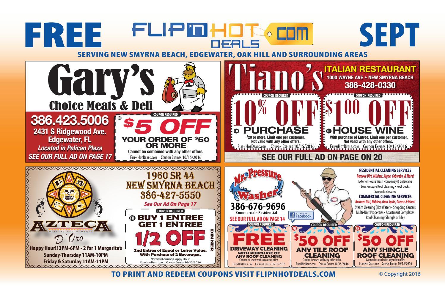 flip u0027nhot deals coupon book september 2016 new smyrna beach area