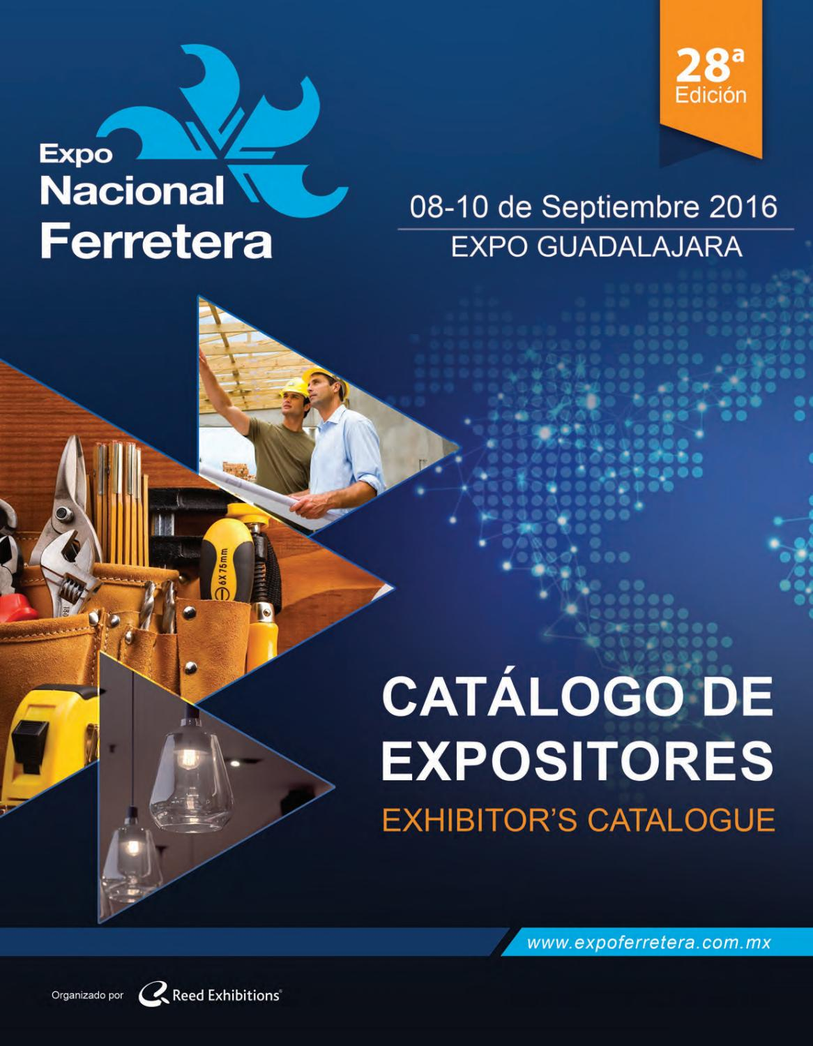 Expo Nacional Ferretera Cat Logo De Expositores 2016 By Reed  # Muebles Lira Gold