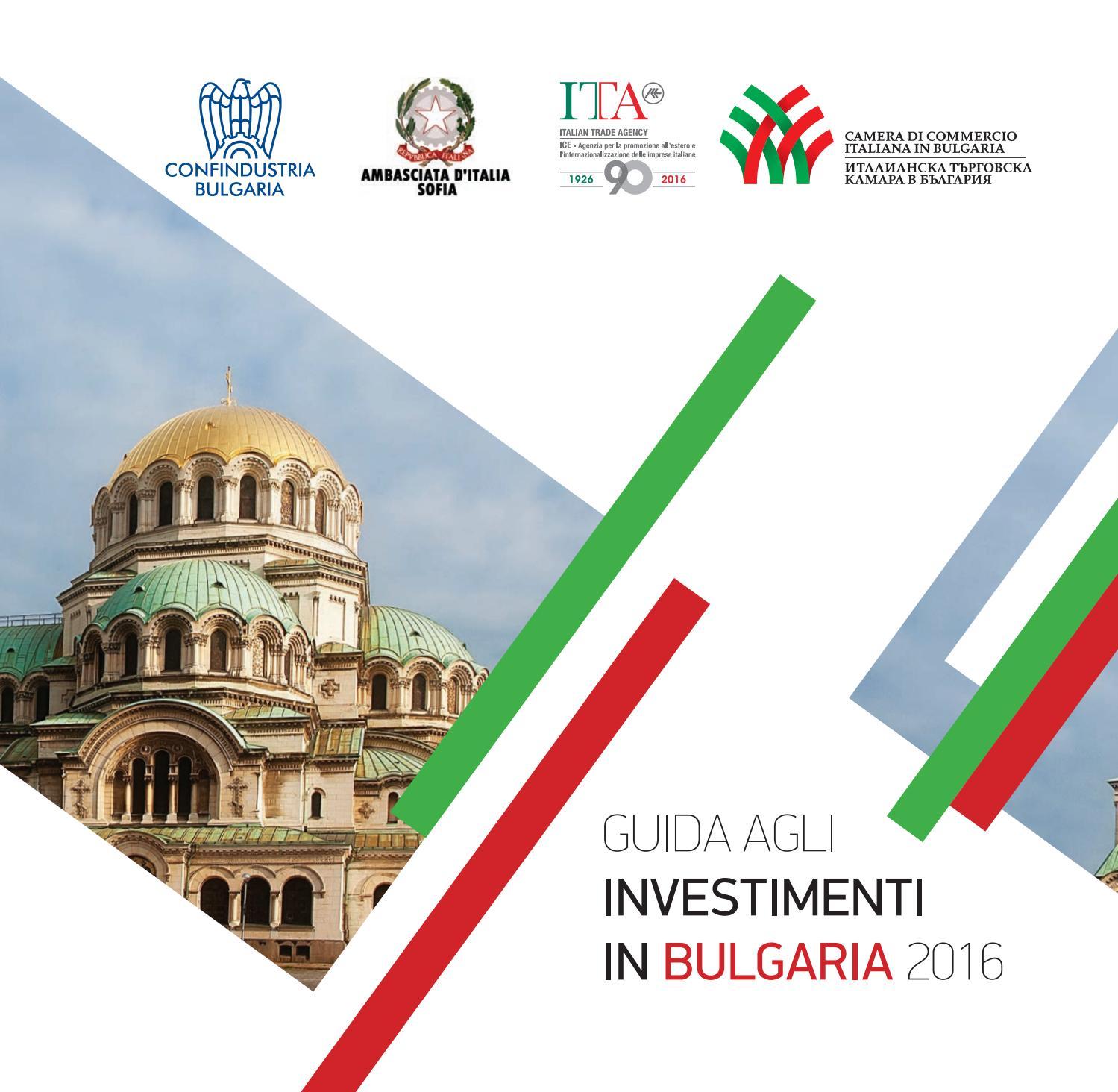 Guida agli Investimenti 2016 by Camera di Commercio Italiana in Bulgaria -  issuu 171482e22b8