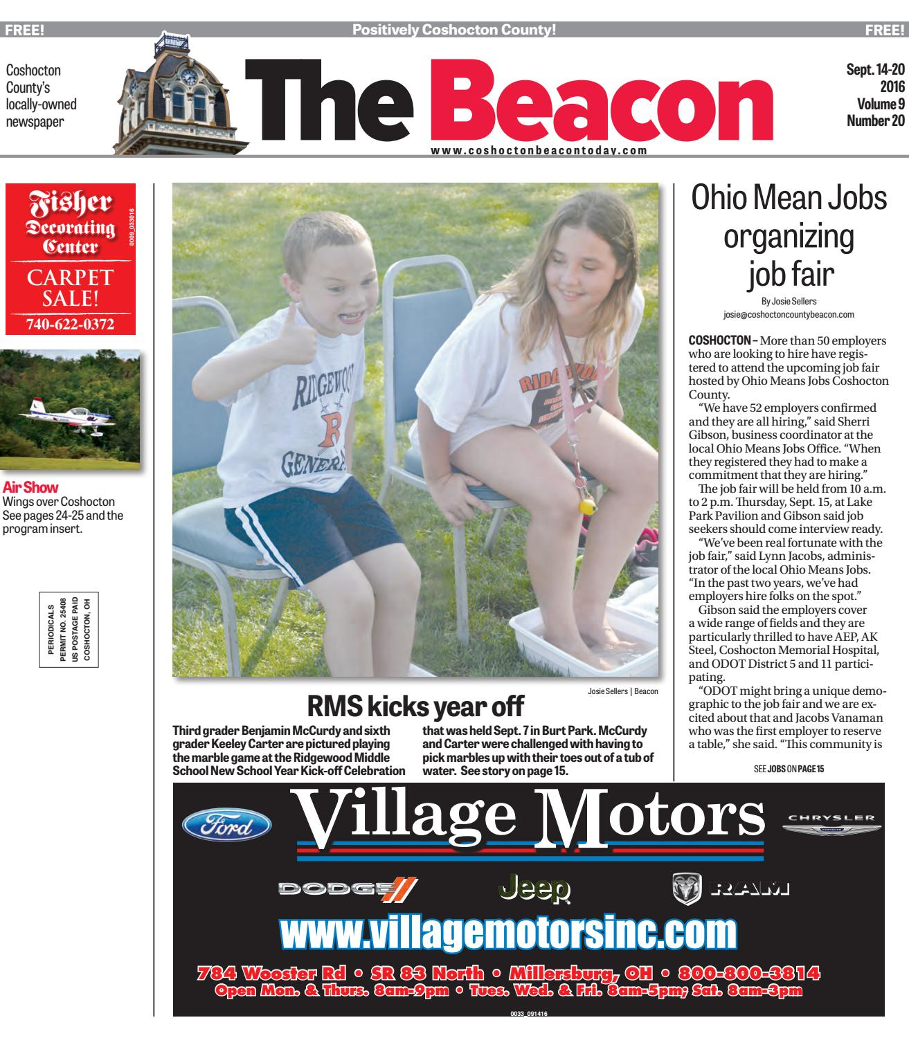 September 14 2016 Coshocton County Beacon By The