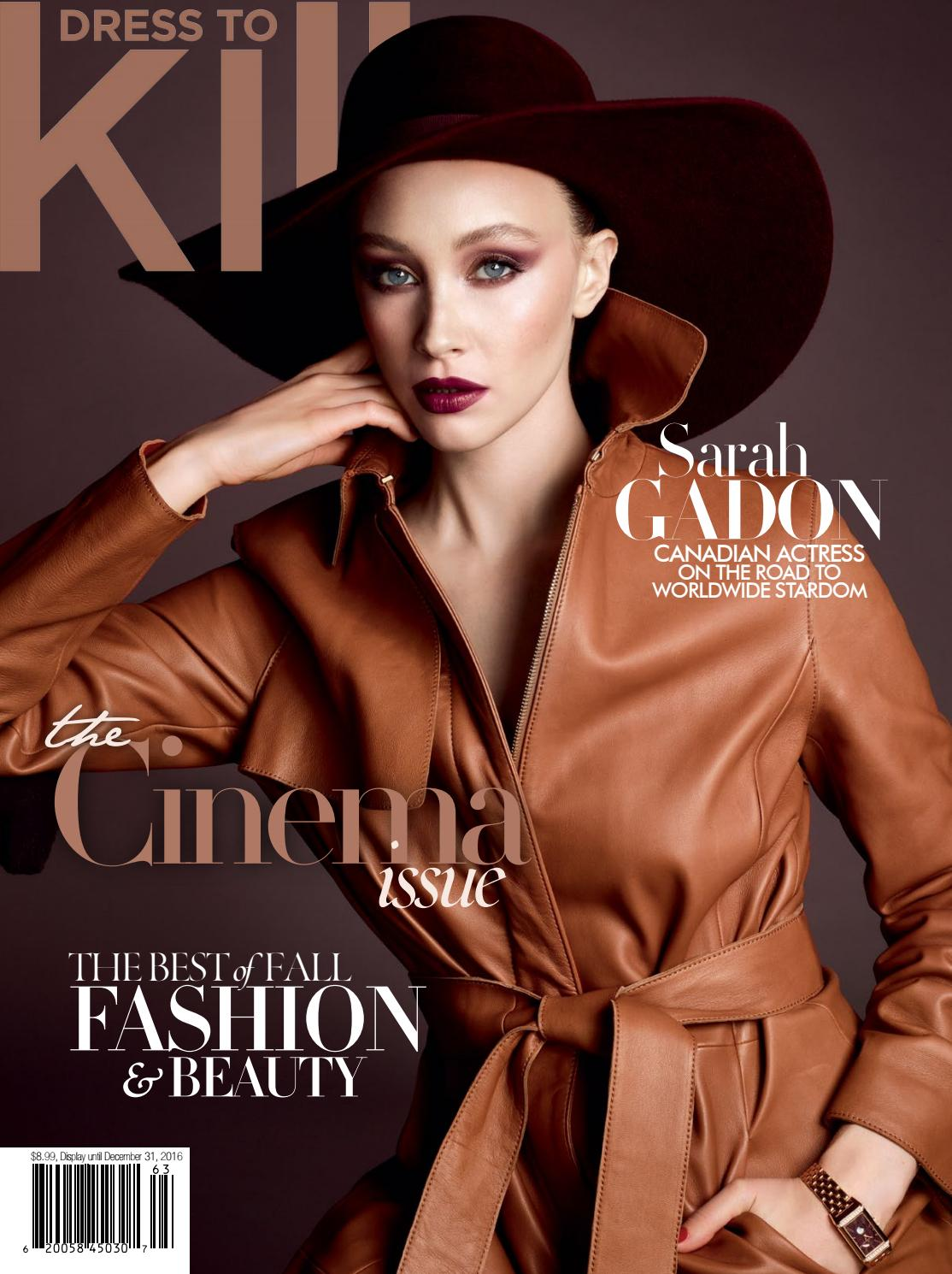13a79c7ca9 Dress to kill fall 2016 Sarah Gadon by Dress to Kill Magazine - issuu