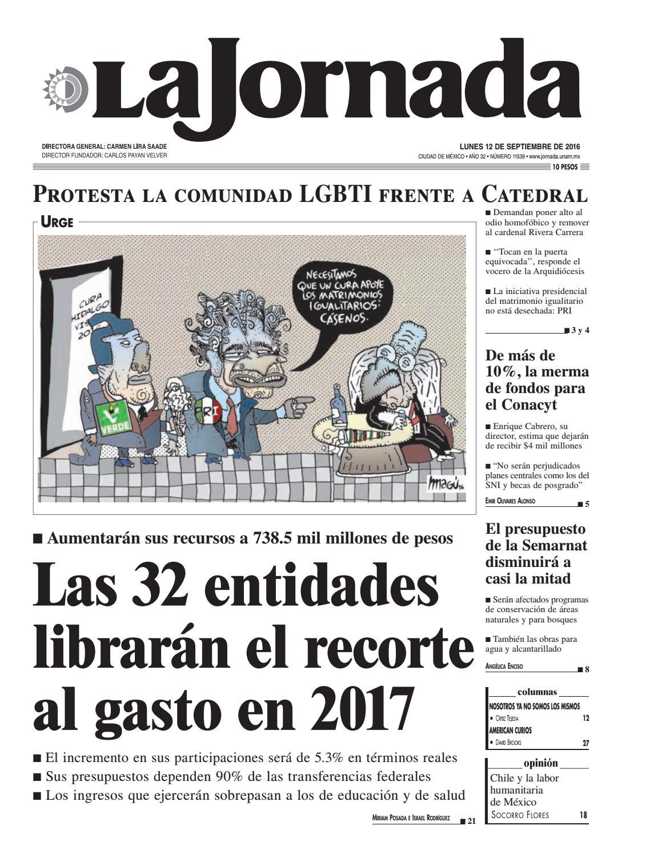 La Jornada, 09/12/2016 by La Jornada: DEMOS Desarrollo de Medios SA ...