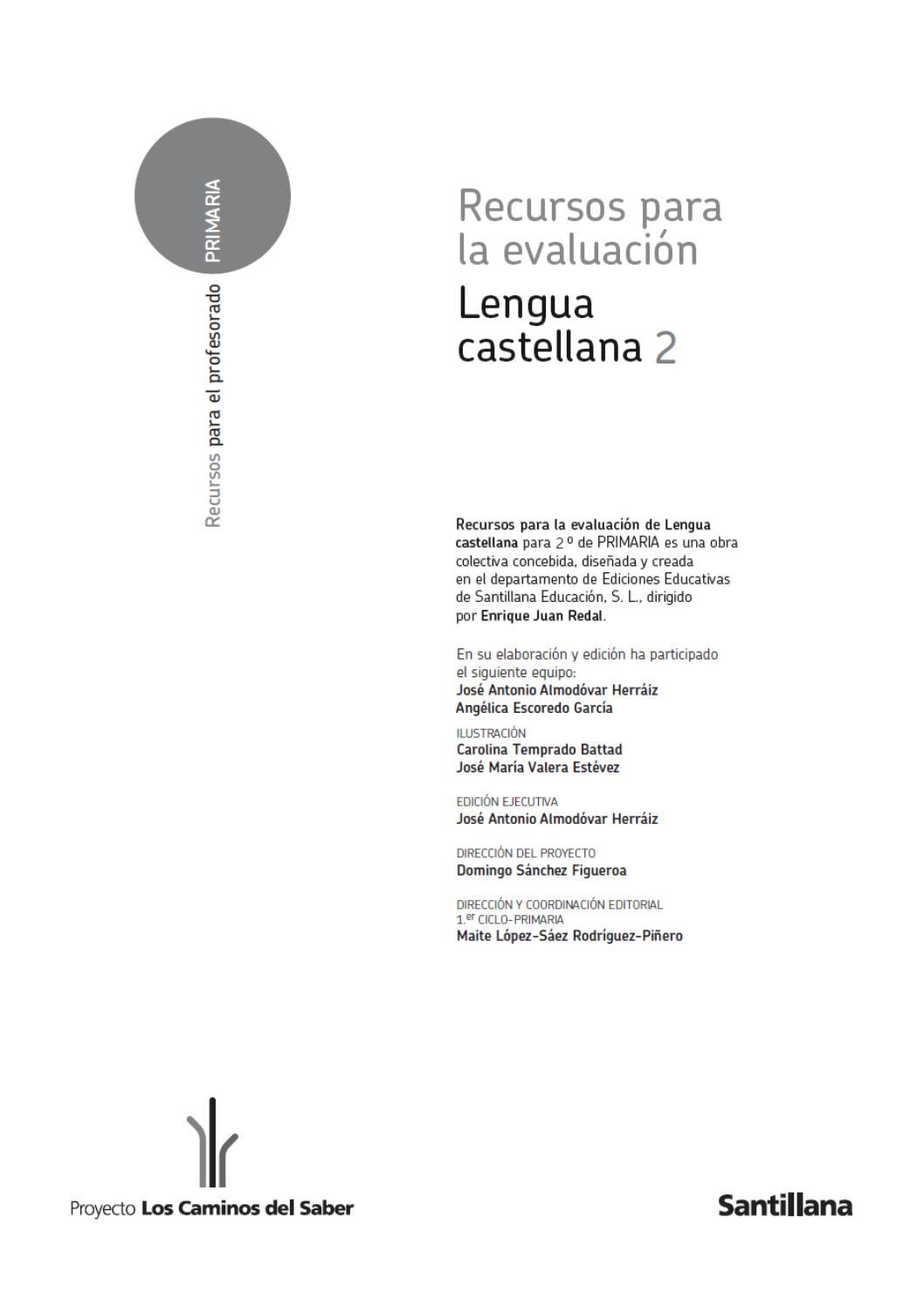 245634432 Recursos De Evaluacion 2 Primaria Lengua Castellana By Antonio Lobato Rodríguez Issuu