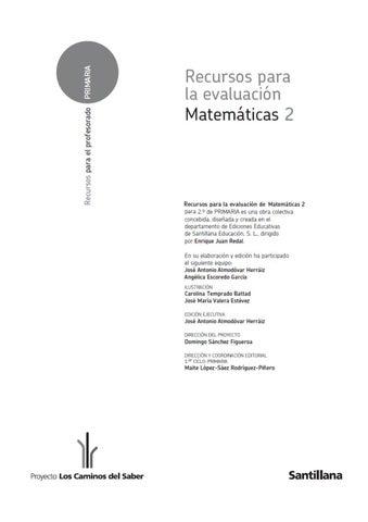 249174828 Matematicas 2 Primaria Evaluacion By Antonio Lobato Rodríguez Issuu