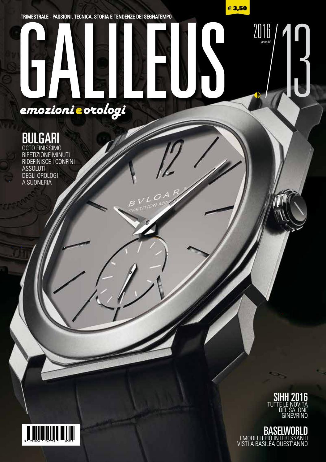 745ae9334935b4 Galileus 13/2016 - primavera 2016 by Galileus Emozioni e Orologi - issuu