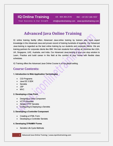 Advanced Java Programming Ebook Notes Pdf Download By Iq Online