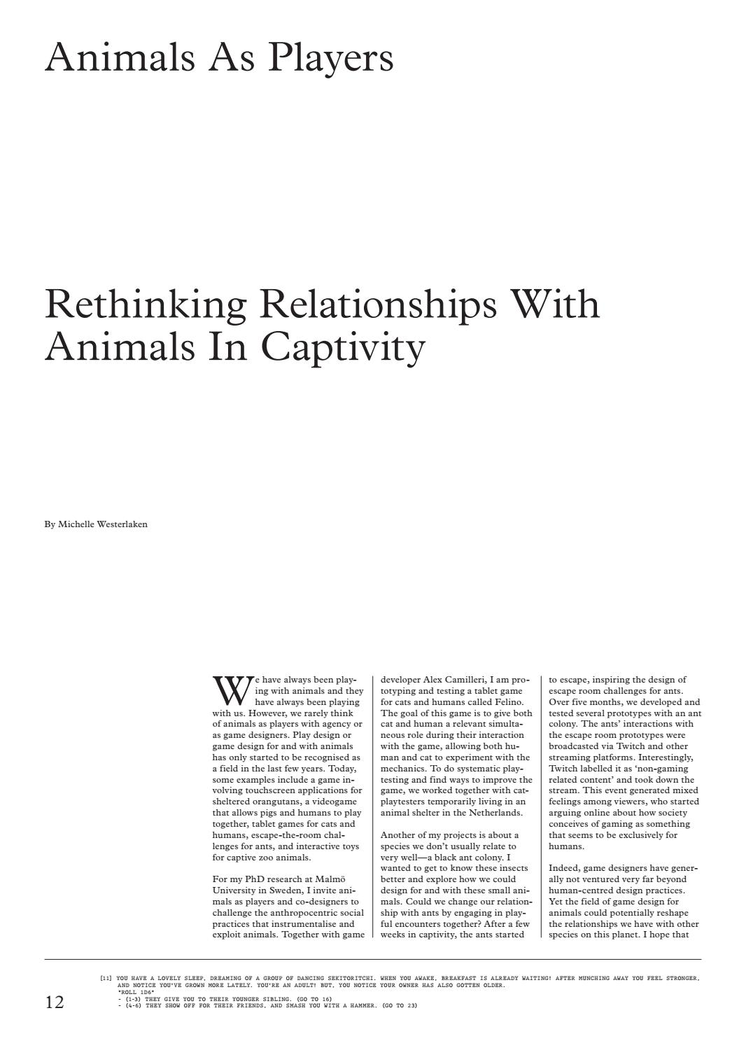 A MAZE  Magazine No 4 - Edition: Animals by A MAZE  - issuu