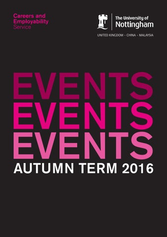 Events Guide Autumn 2016 by Jackie Thompson - issuu