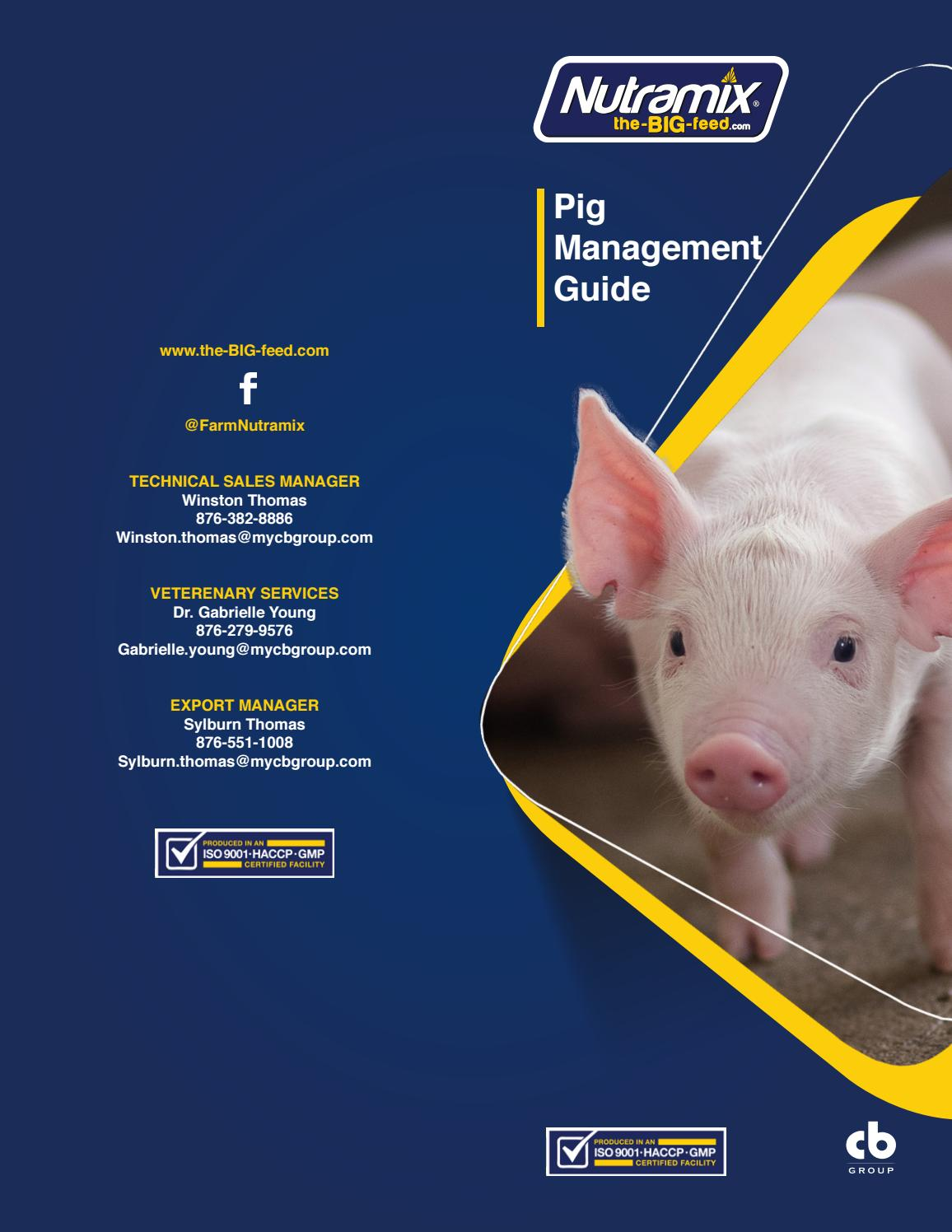 Nutramix - Pig Management Guide - 2016 by Chat Bout - issuu
