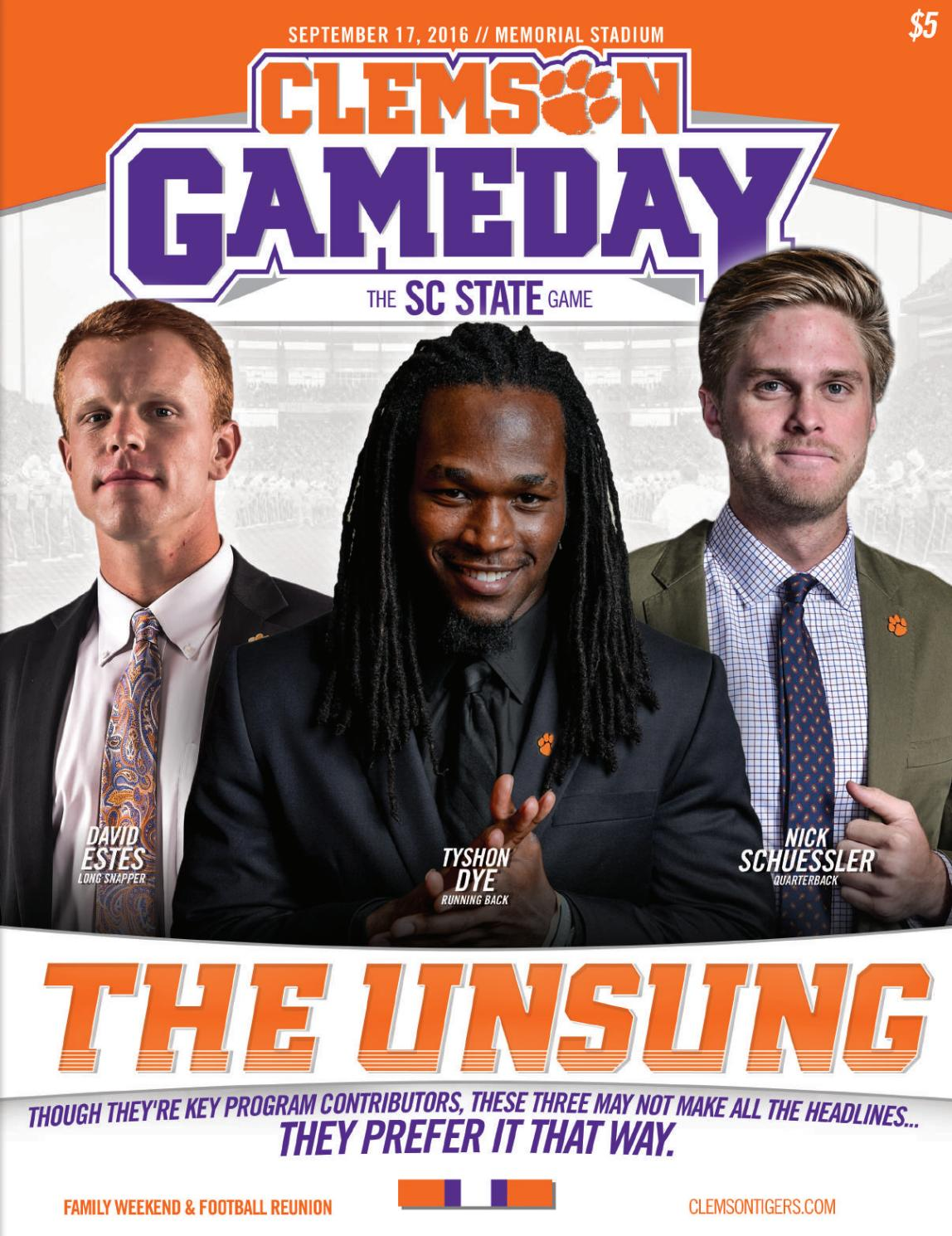 Clemson Football // 2016 SC State Gameday Program by Clemson