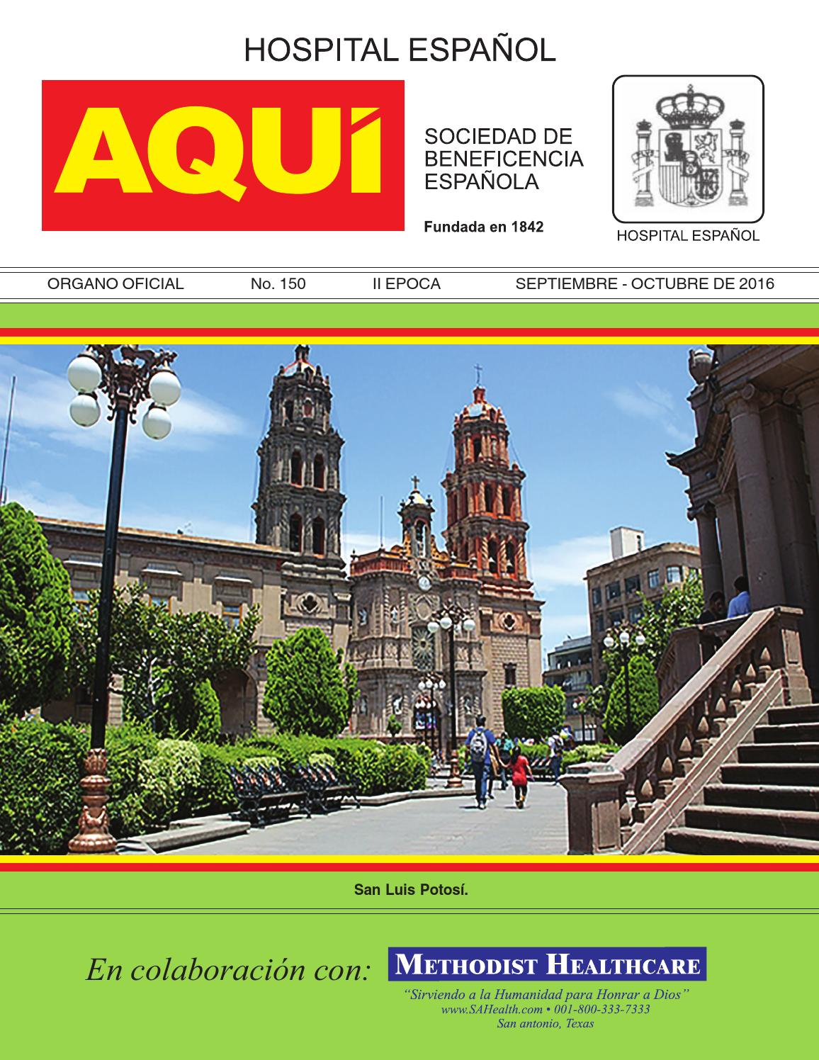 Aquí SBE 150 Septiembre - Octubre 2016 by Hospital Español - issuu 72cbc745273