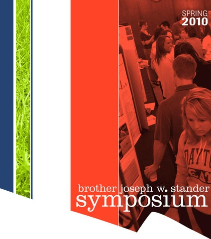Univ of Dayton Stander Symposium, 2013 Abstract Book by University of Dayton,  Stander Symposium - issuu
