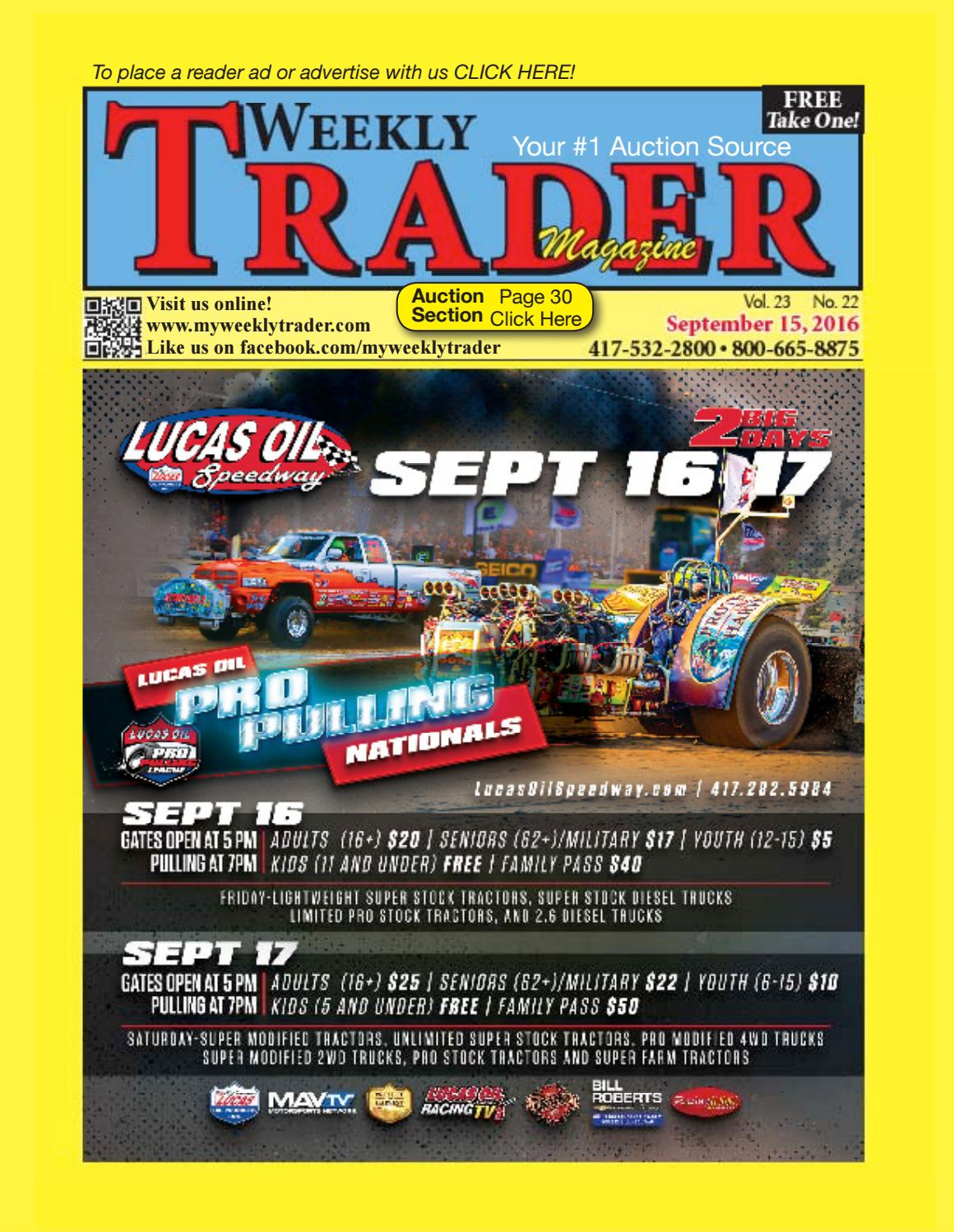Weekly Trader September 15, 2016 by Weekly Trader - issuu