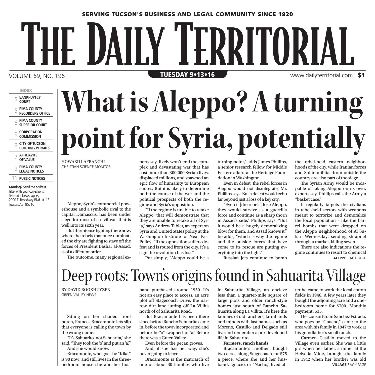 4dd6b45a 9/13/2016 The Daily Territorial by Wick Communications - issuu