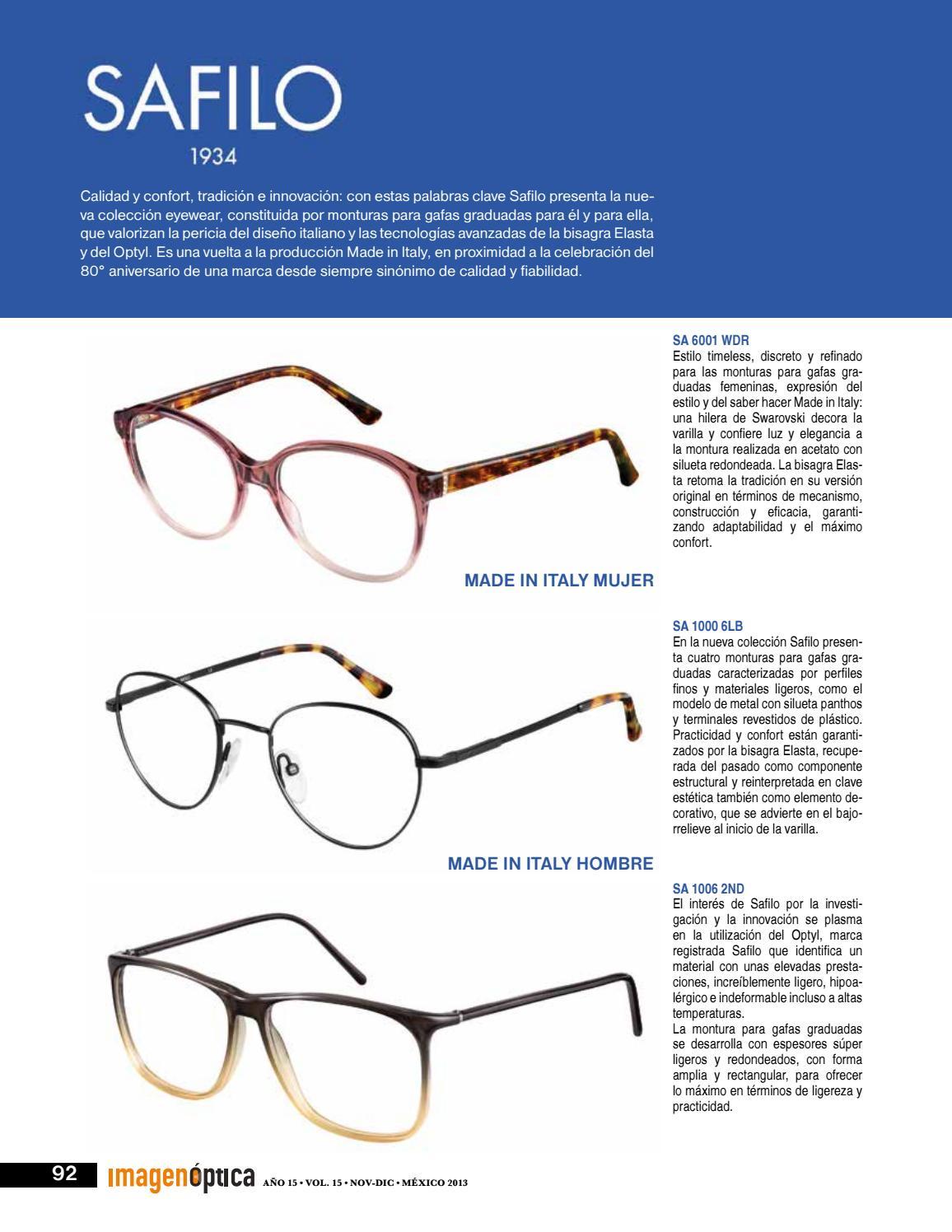 Revista Noviembre Diciembre 2013 by Imagen Optica - issuu