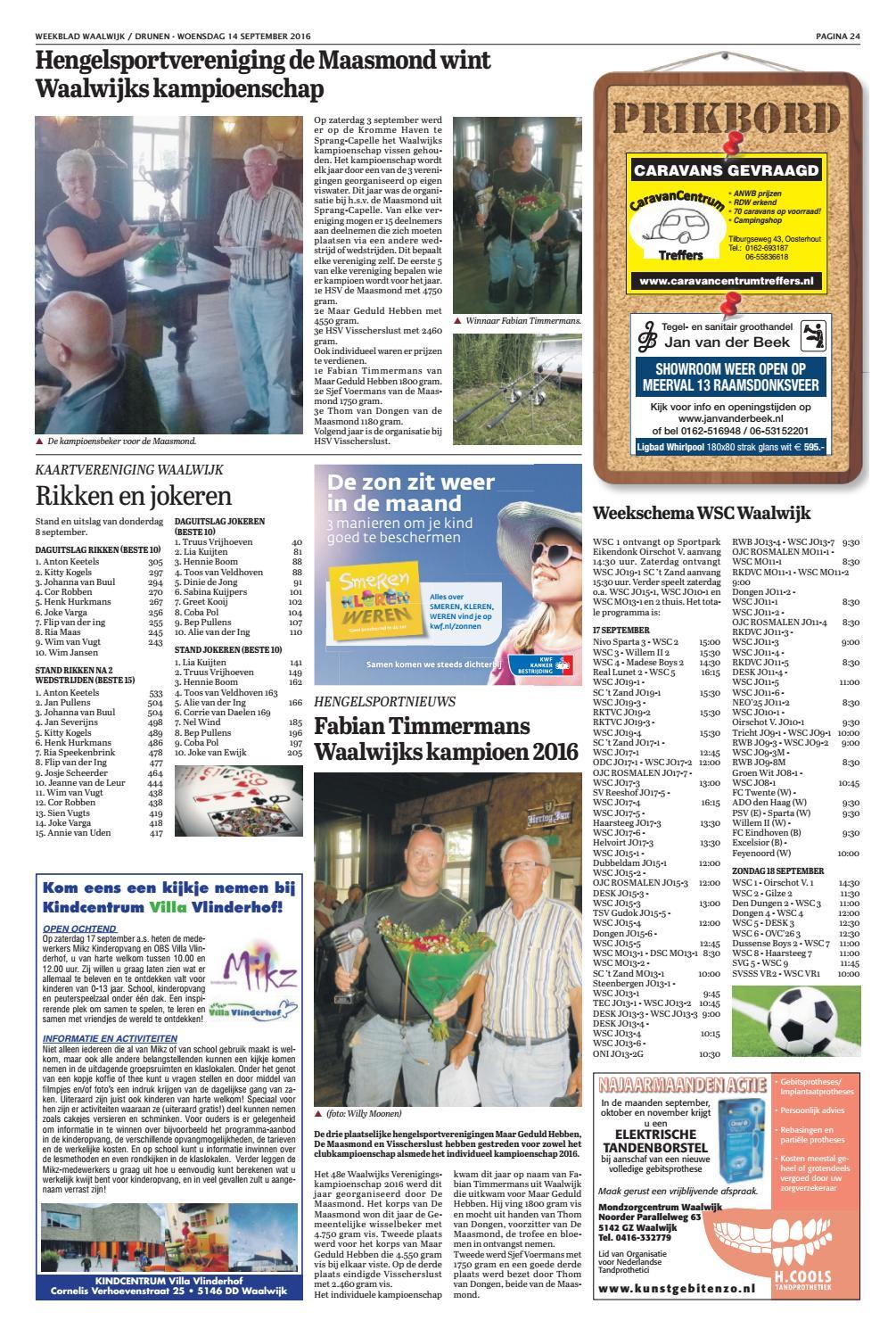Weekblad Waalwijk 14-09-2016 by Uitgeverij Em de Jong - issuu 345811af54d3
