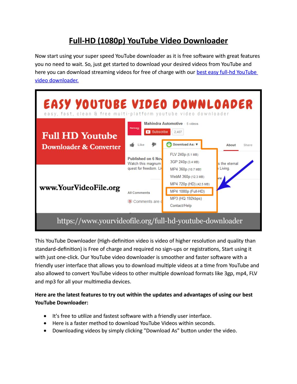 download youtube video mp4 hd free