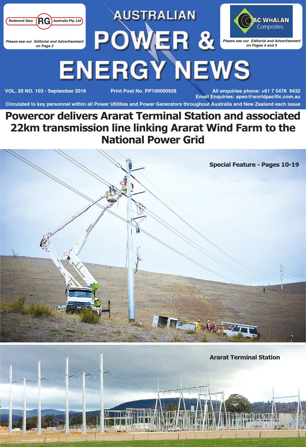 Australian Power And Energy News Vol20 No103 September 2016 By Household Circuits Ausgrid Main Roads Construction Issuu