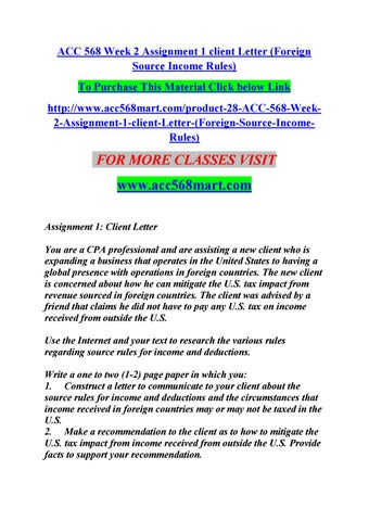 Acc  Week  Assignment  Client Letter  AccMartCom By