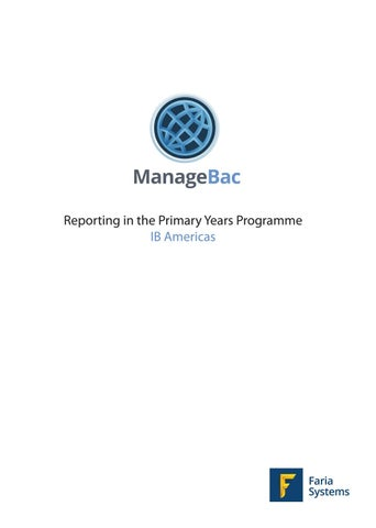 IBA PYP Reporting Booklet by ManageBac - issuu
