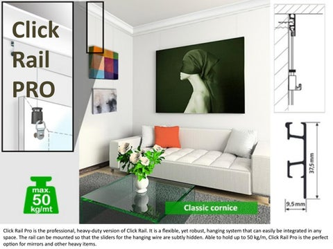 click rail pro art hanging systems