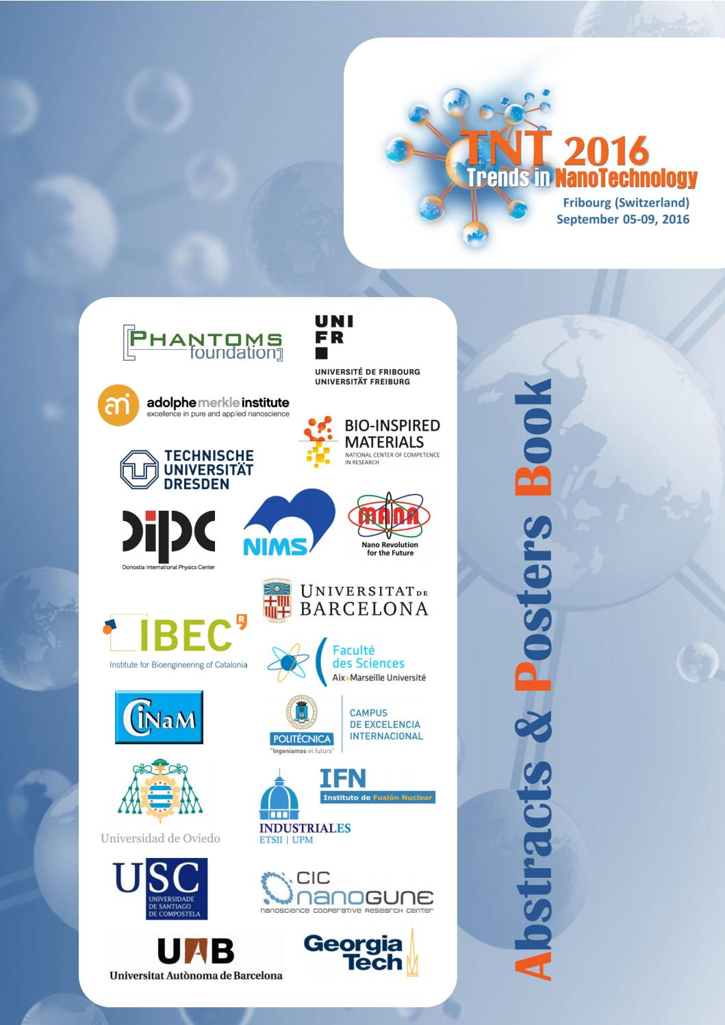 TNT2016 Abstracts & Posters book by Phantoms Foundation - issuu