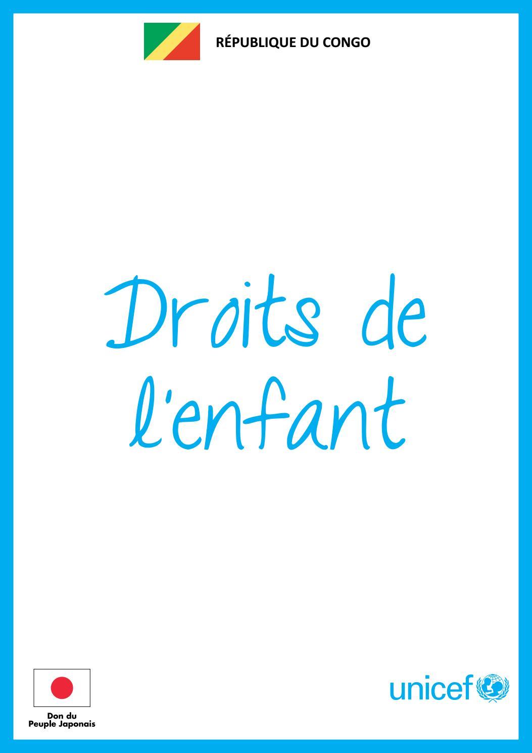 Bien-aimé Boîte à images - Droits de l'enfant by UNICEF Congo Brazza - issuu NJ03